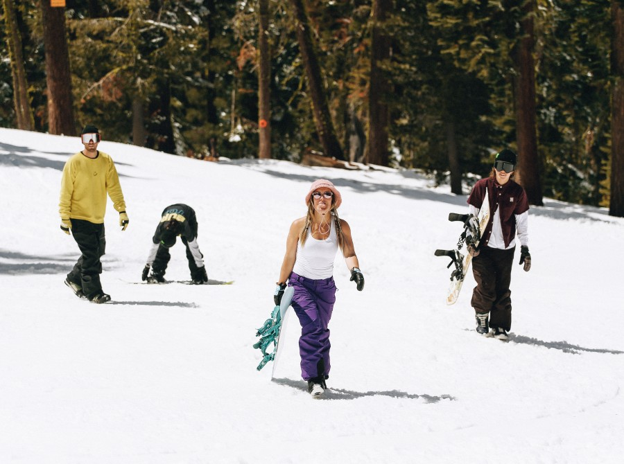 """Images from Women's Project """"Snow Cats""""."""