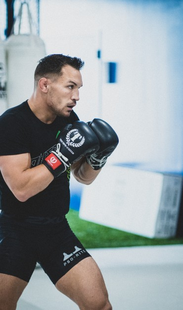 Photos of Monster athlete Michael Chandler training for his title fight at UFC 252. Shot at Sanford MMA in Deerfield Beach, Florida.