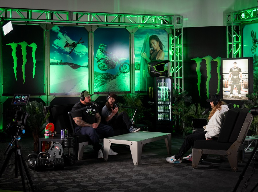 Images from the Monster Energy Unleashed Podcast.