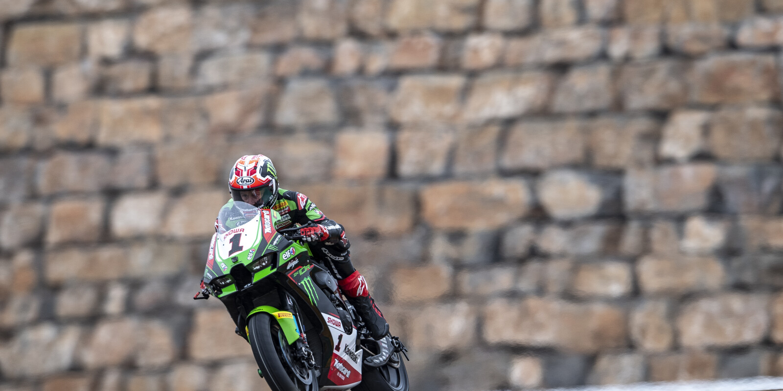 Day 2 of round 1 of the World Superbikes at Aragon with Kawasaki Racing Team