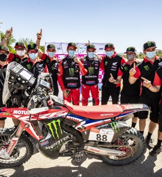 Images from the 2021 Andalucia Rally with Honda HRC Team