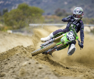 Austin Forkner rides at Fox Raceway in Pala, CA for Forkner Style 2 Dirtshark video shoot