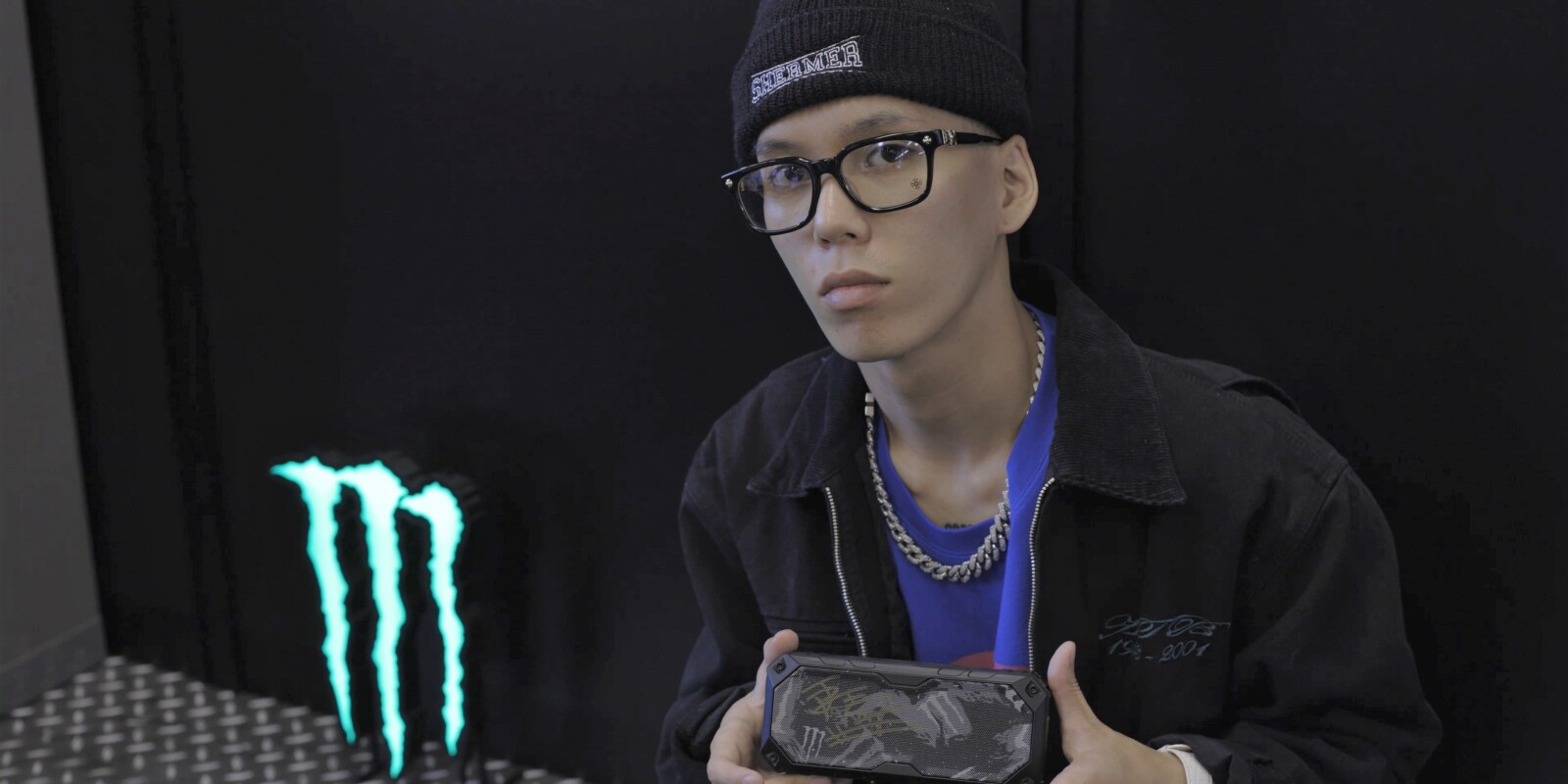 """Photo for the release of a new Monster Energy artist """"JP THE WAVY""""."""
