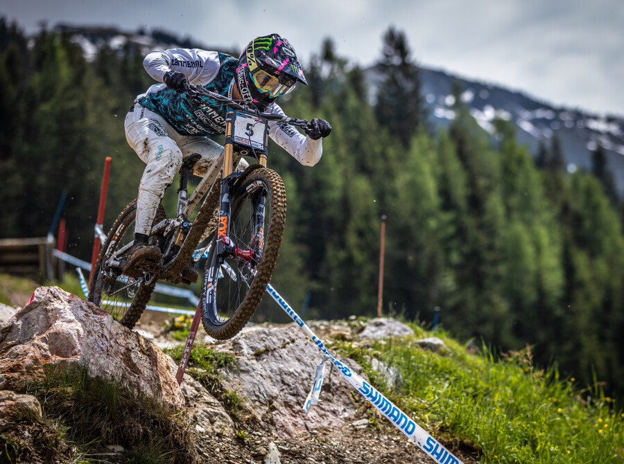 Images from the 2021 UCI World Cup Downhill Round 1