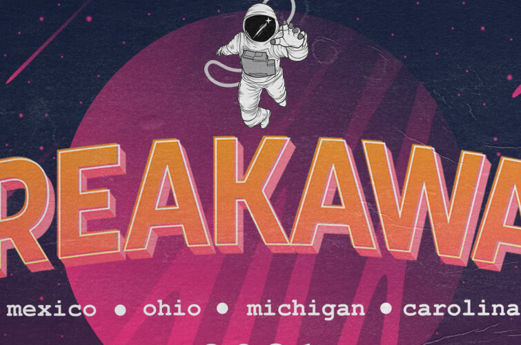 Photo assets of Breakaway Music Festival's logo for promotional use