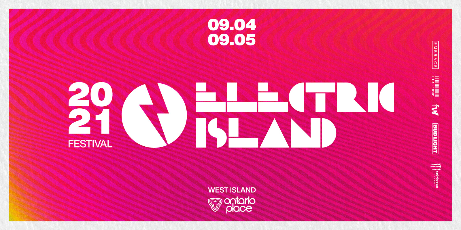 Hero for Canada Website Events - Electric Island Flyer