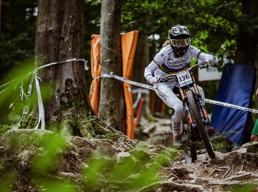 Images of Cyclists in the 2021 UEC MTB Downhill European Championships in Maribor,  Slovenia