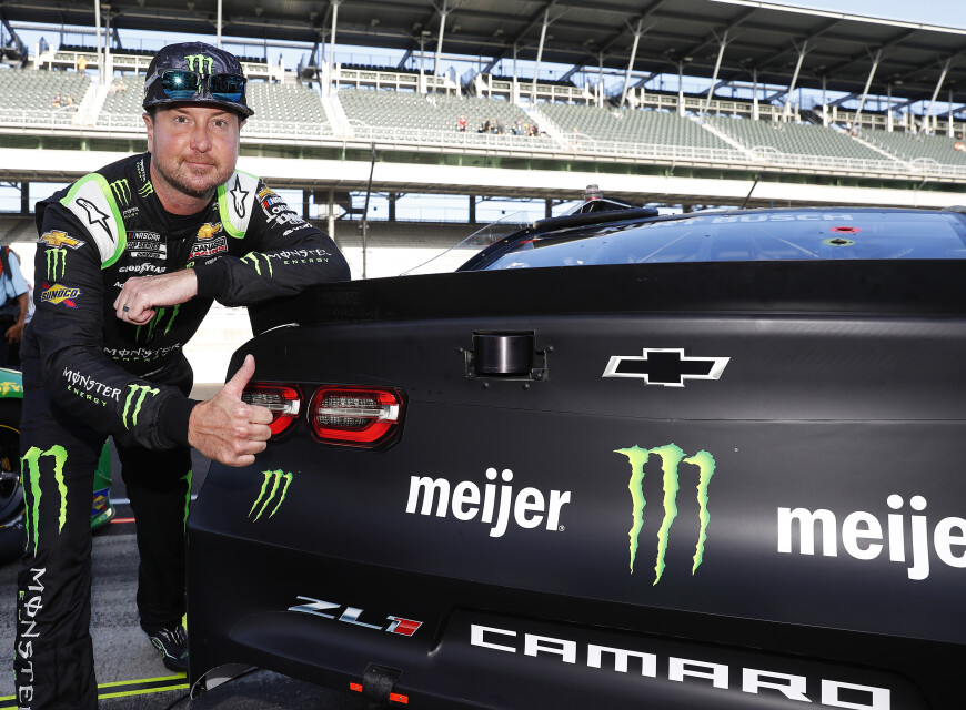 Images of Kurt Busch at the NASCAR Cup Series at the Indianapolis Motor Speedway in Indianapolis Indiana