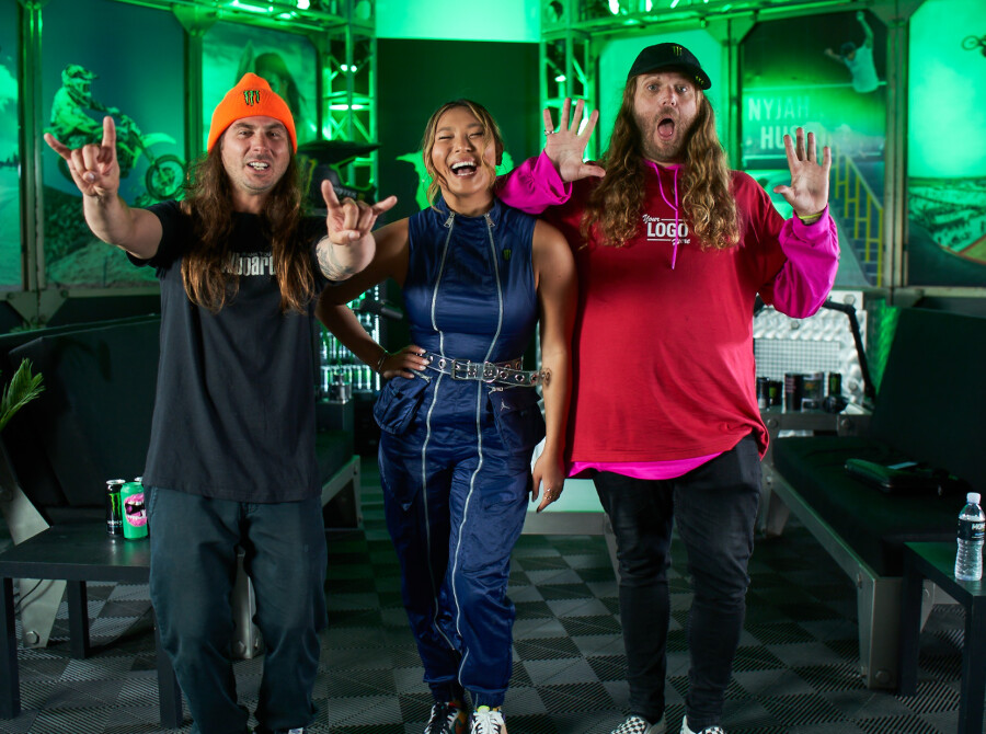 Images with Chloe Kim from the Unleash Podcast