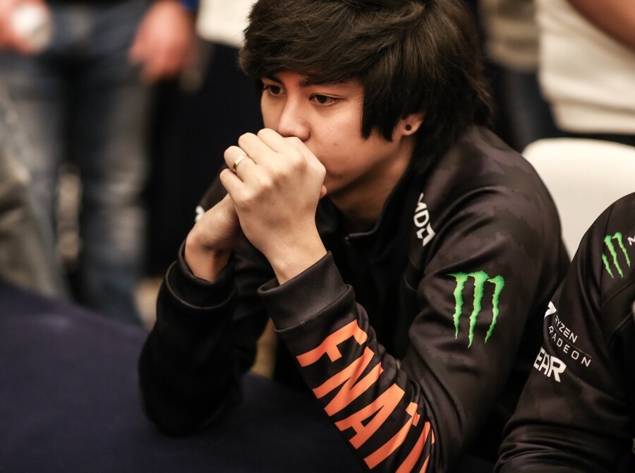 Photos of Fnatic's Dota 2 roster playing in MDL Chengdu, the second major of the Dota 2 Pro Circuit. They placed 9th-12th.