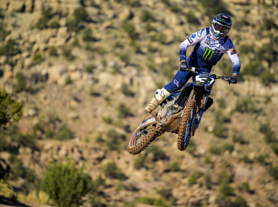 Eli Tomac rides his new Star Racing Yamaha at his home track in Cortez, CO.