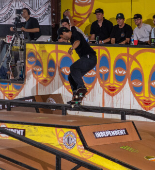 Images from Tampa Pro Skating in Tampa Florida of Kelvin Hoefler winning a golden ticket to the finals, Gabriel Fortunato making it to the Semi Finals, and Monster Army athlete Liam Pace winning a Killing It award in the concrete jam